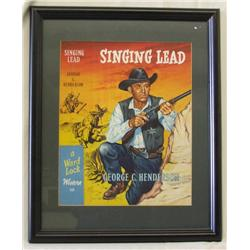 Framed Movie Poster Singing Lead George Henderson