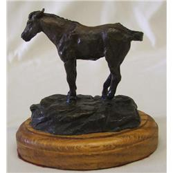 Miniature Bronze Horse Sculpture by B. Cosgrow