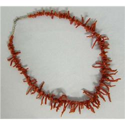 Ox Blood Coral Necklace