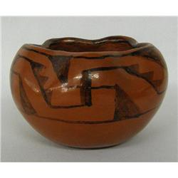 Maricopa Black on Red Pottery Bowl