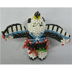 Zuni Fully Beaded Miniature Eagle Man
