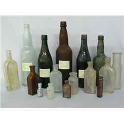 Collection of Sixteen Antique Bottles