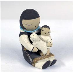 Isleta Mini Storyteller Doll by Stella Teller
