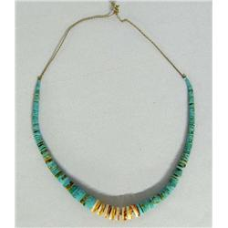 Santo Domingo Graduated Turquoise Shell Necklace