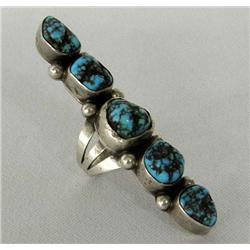 Navajo Silver Turquoise Nugget Ring