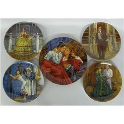 5 Gone With The Wind Collector Plates
