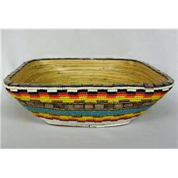 Hand Beaded Bowl By Kills Thunder