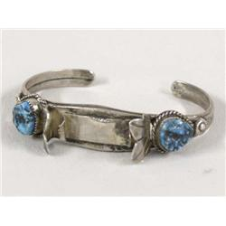 Navajo Silver and Turquoise Watchband