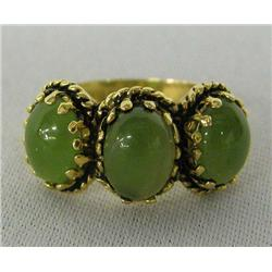 Estate 14kt Gold and Jade Ring