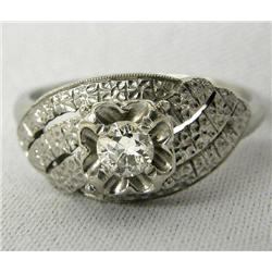 14Kt White Gold Diamond Ring Size 7