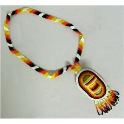 Apache Beaded Necklace w/Cradleboard