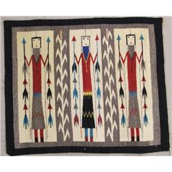 Navajo 3 Yei Ceremonial Weaving Rug