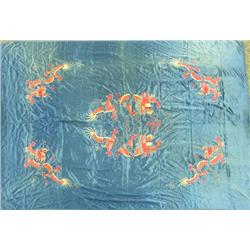 Chinese Dragon Silk Embroidered Tablecloth