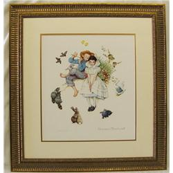 Framed Norman Rockwell Print Sweet Song So Young