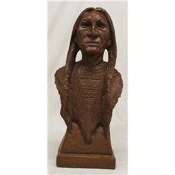 Pecan Shell Composition Indian Statue
