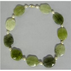 Jade Choker With Pearls & 14K Gold Beads