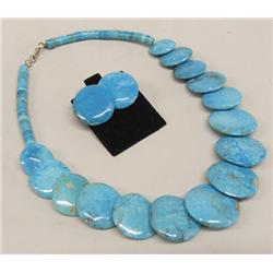 Santo Domingo Turquoise Choker and Earrings