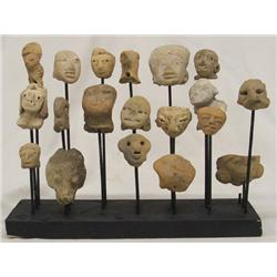 19 Precolumbian Heads