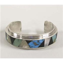 Navajo Inlay Bracelet Hallmarked