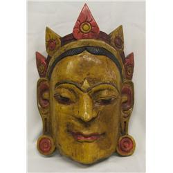 Wooden Polychrome Mask from Nepal 2006