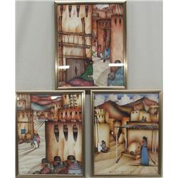 3 Framed Amado Maurillo Pena Jr Prints