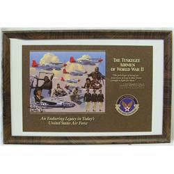 Framed Picture Tuskegee African Americans WWII