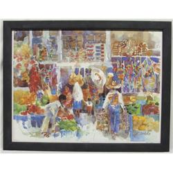 Susan Amstater Framed Signed Numbered Lithograph