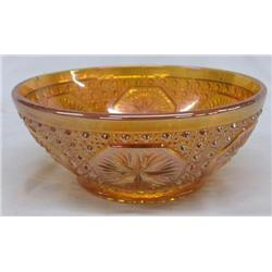 Carnival Glass Medallion Bowl