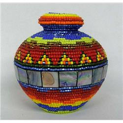 Beaded Jar by Kills Thunder