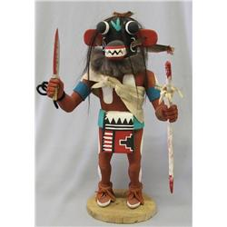 Hopi Black Ogre Kachina by Robert Seechoma