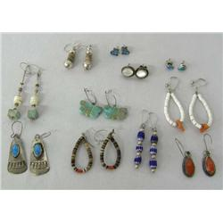 11 Pair Indian Pierced Earrings