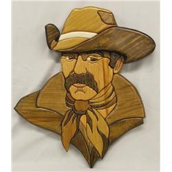 Wooden Cowboy Wall Hanging by Tammy Ireland