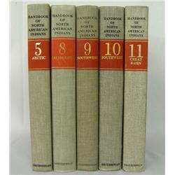 5 Hardback Books Handbook Of North American Indian