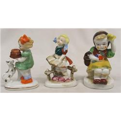Three Occupied Japan Porcelain Figures