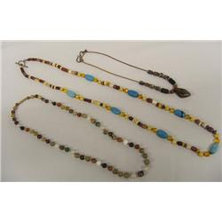 Three Western Multi Stone Necklaces