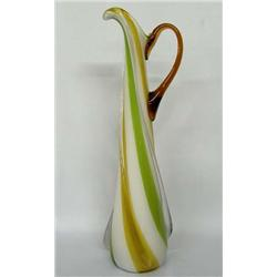 Hand blown Art Glass Pitcher