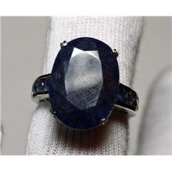 14 Carat Total Weight Sapphire Ring