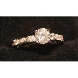 1.23 Carat Total Weight Diamond Unity Ring