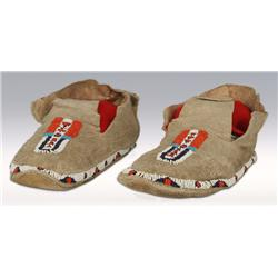 Northern Plains Beaded Moccasins, 1910