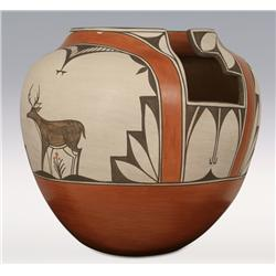 Zia Olla Pottery, 14  x 14 , made by Helen Gachupin