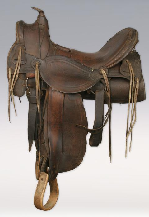 19th century half seat saddle