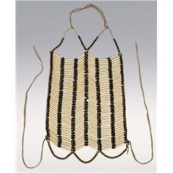 Southern Plains Men's Breastplate, 22  x 12 , 19th century