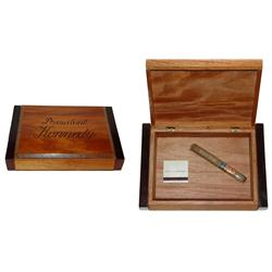 President John F. Kennedy Cigar Box