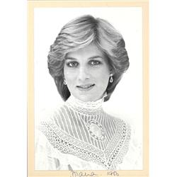 Princess Diana Signed Photo 1986