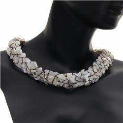 Hand Strung Mother of Pearl Shell Jewelry Set (JEW-173) (JEW-173)