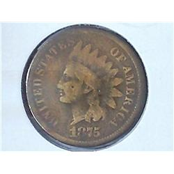 1875 Indian Head Cent (Key Date)