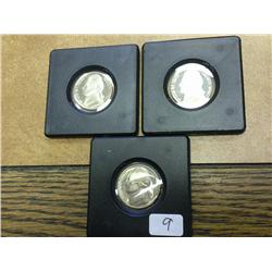 1969-S, 94-S And 96-S Jefferson Nickels (Proof)