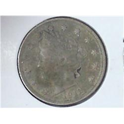 "1912 Liberty ""V"" Nickel (VF)"