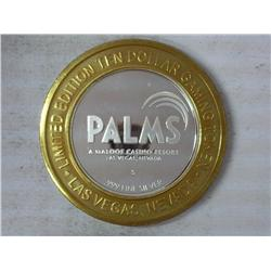 Palms Casino $10 Gaming Token (Silver) UNC