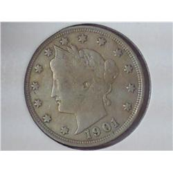 "1901 Liberty ""V"" Nickel (Fine)"